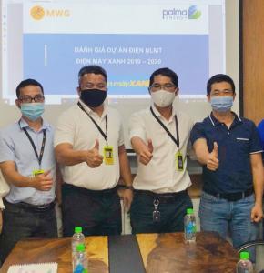 Palma Energy và Palma Group tổng kết hoạt động đầu tư Hệ thống NLMT mái nhà tại các cửa hàng Điện Máy Xanh